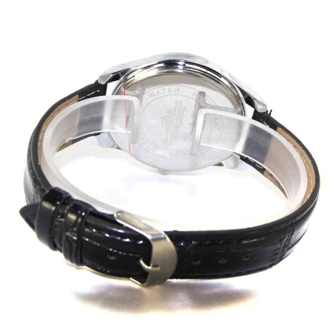 นาฬิกาผู้ชายพิเศษดิจิตอลรูปแบบ Dial PU หนังสายคล้องคอ Quartz นาฬิกาข้อมือ reloj de hombre zegarki meskie ผู้ชาย saat