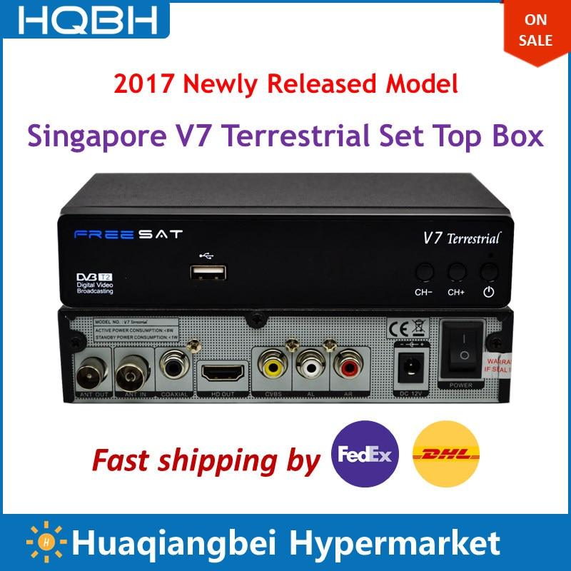 Latest Singapore Box V7 Terrestrial Economical Version for V8 V9 Pro to Replace ICAM Qbox Black Box 5000HDC C808 C608 got7 7 for 7 golder hour version magic hour version 2 albums set release date 2017 10 10