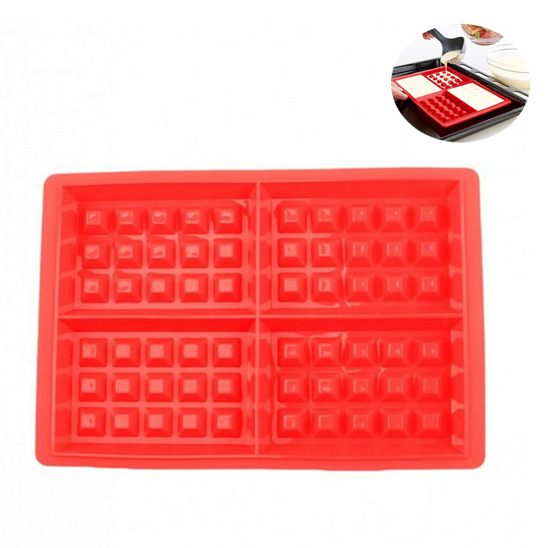 Waffle Makers Mould Silicone Cake Chocolate Mould Nonstick Baking Mold Bakeware DIY Tool Hot Sale