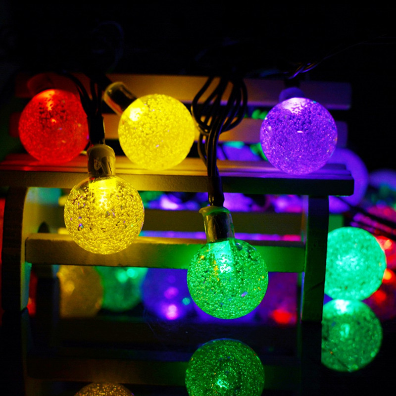 6M Ball Led String Light Solar Led Outdoor String Lights
