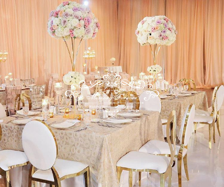 Ev ve Bahçe'ten Parti Kendin Yap Süslemeleri'de Yüksek Kaliteli Son Uzun Centerpieces Düğün Masa Centerpieces Dekorasyon Çiçek Standı için Dekoratif Vazolar Evlilik'da  Grup 1