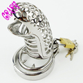 Male Chastity Cock cage Urethral sounds Spike Ring Adult Toys Penis Ring Anti-off Device Steel Restraints for men