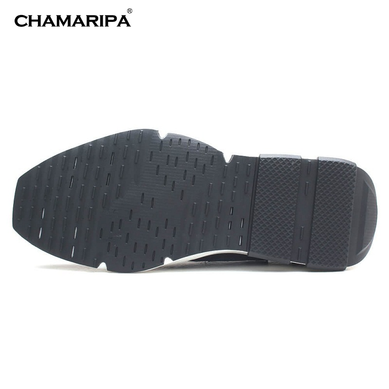 202c89653e0e CHAMARIPA Men Elevator Shoes Sneaker Leather With Hidden Heel Increase  Height 7cm 2.76 inch New Fashion Shoes H72C11K163D-in Men s Casual Shoes  from Shoes ...