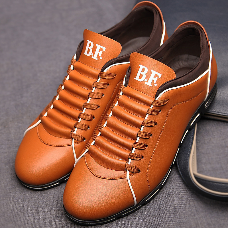 Casual shoes man solid leather plus size 37-48 mens spring/autumn shoes superstar men sneakers lace-up flat shoes fabrecandy new spring autumn men casual shoes fashion breathable flat men shoes sneakers pu leather waterproof plus size 37 47