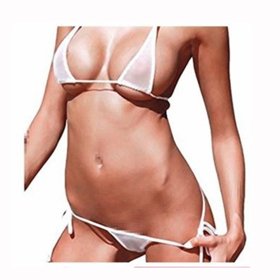 See Through Mesh Micro Bikini Set Women's 2019 Brazilian Sheer Bikinis Sex Swim Lingeries Swimwear Female Swimsuit Costume