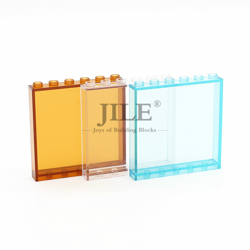 MOC Glass Tablet Panel 1x6x5 Street View Window Wall 59349 Creative Building Blocks Bricks Compatible With Assembles Particles