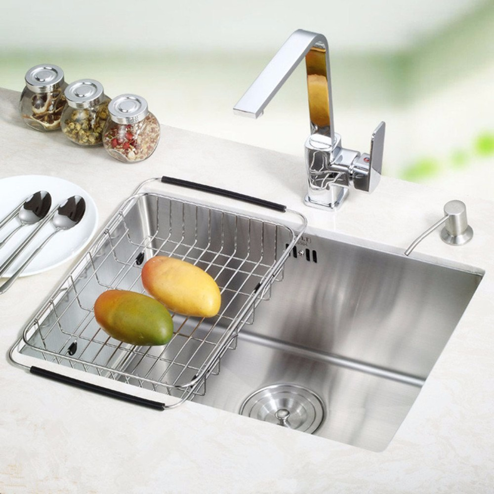 Awesome Aliexpress.com : Buy Stainless Steel Dish Rack Over Sink Adjustable Arms  Holder Utensil Drainer Functional Drying Organizer Vegetable Fruit Drainer  From ...