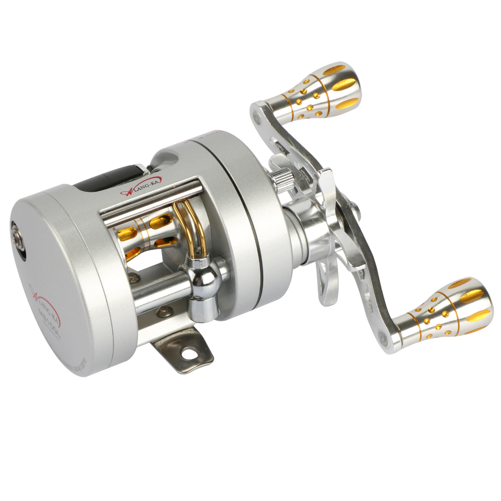 9BB MB100 Metal Trolling Boat Fishing Reel Saltwater Cast Drum Baitcasting Reels 6kg Drag Left Right Hand trolling reel 9 1bb drum wheel carp baitcasting reels centrifugal brake casting saltwater fishing reel super power drag 30kg