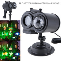 Waterproof LED Card Projection Lamp Christmas Halloween Light Festival Holiday Lighting with Remote Control and 12 Patterns