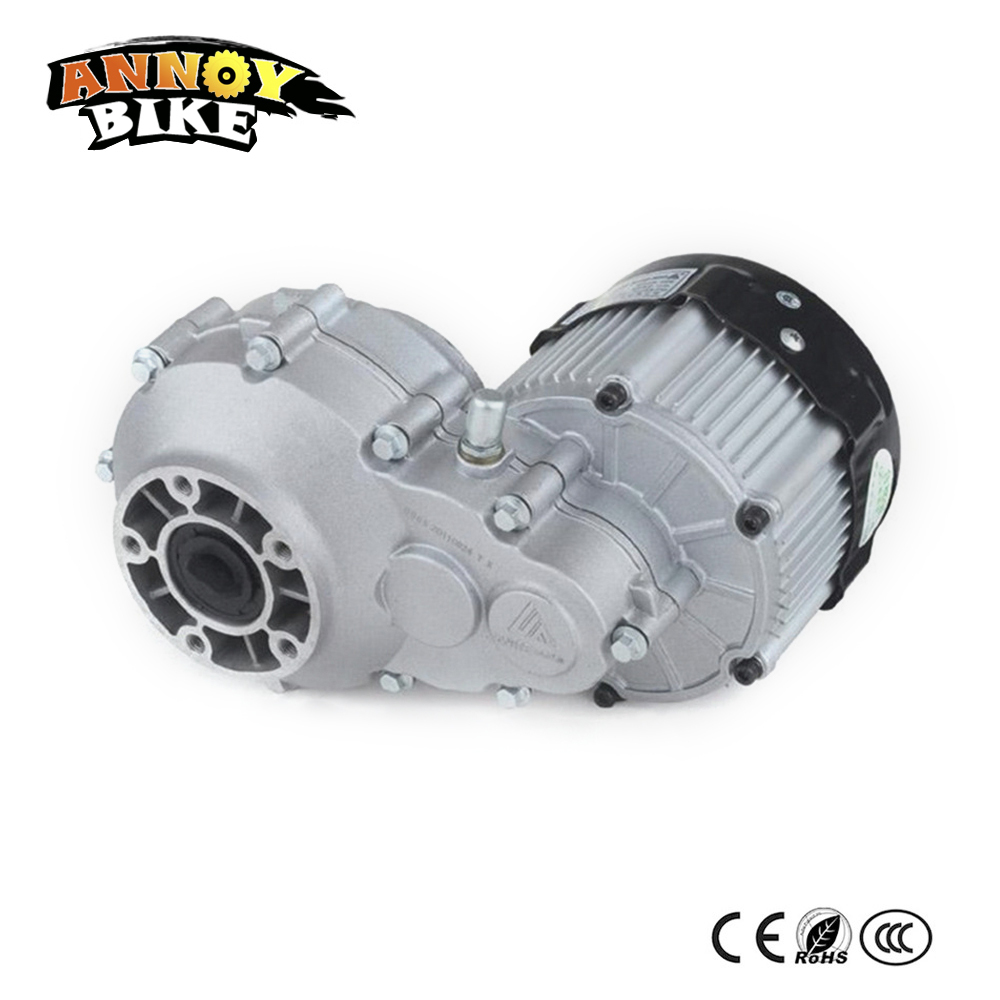 Permanent Magnet BLDC Motor 1000W-2200W DC 48/60/72V High Speed Differential Motor for Electric Tricycl Mini Car BM1424HQF driven by rear axle permanent magnet dc brushless motor bm1418hqf bldc 500w48v