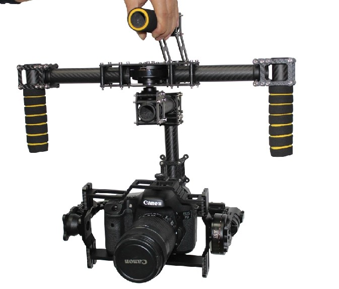 DYS FPV DSLR Aerial Camera 3 Axis Brushless Gimbal Carbon Mount + 32Bit AlexMos Controller + 3 Motor CANON 5D MarkII For DIY fpv 3 axis cnc metal brushless gimbal with controller for dji phantom camera drone for gopro 3 4 action sport camera only 180g
