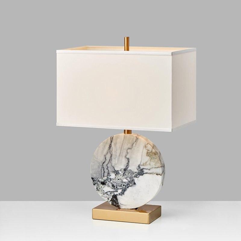 Moderne classique en marbre métallique lampe de bureau salon chambre étude salle à manger de luxe table lumière bureau décoratif led lampe de table