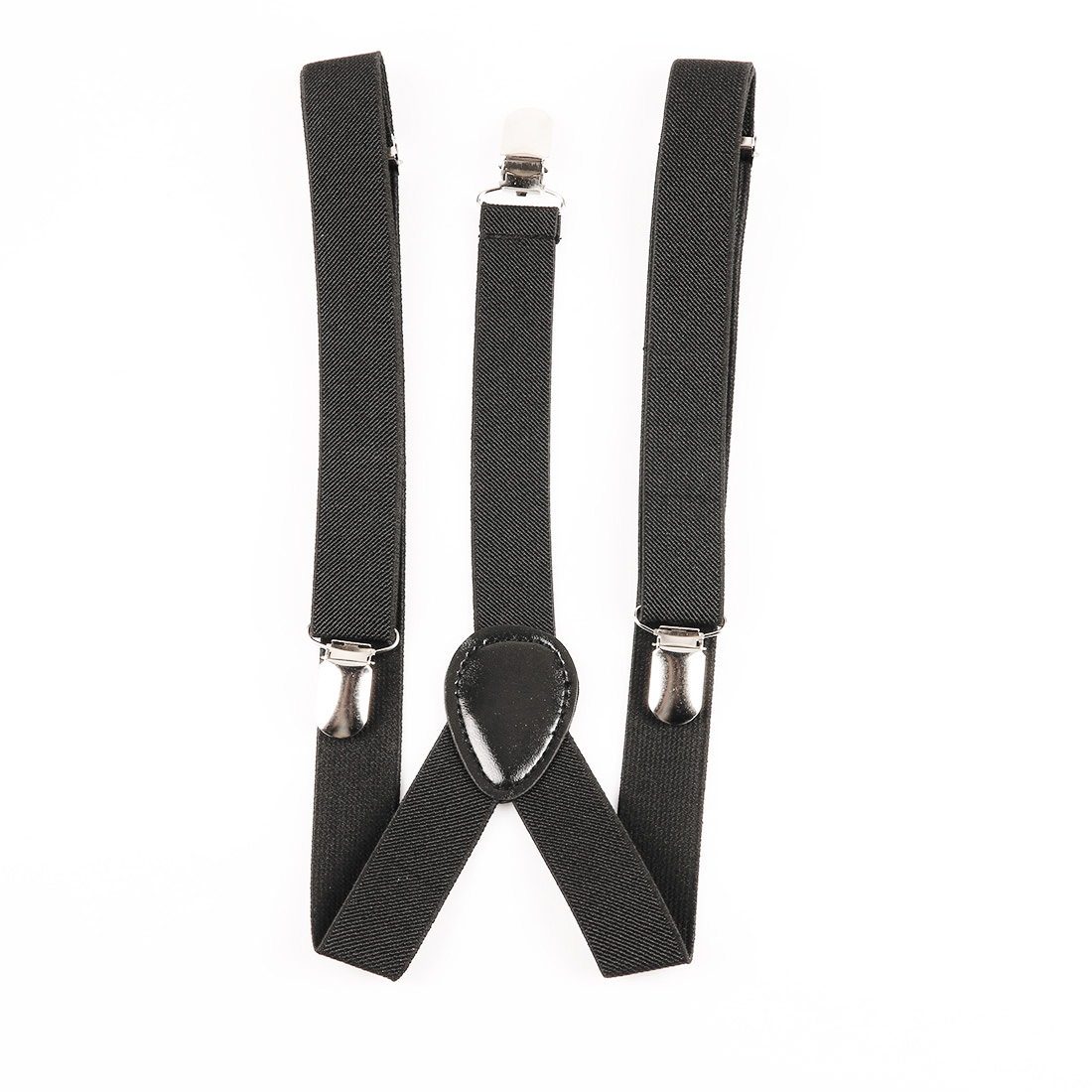 New Style Black Mens Womens Unisex Clip-on Suspenders Elastic Y-Shape Adjustable Braces Solids 25*100cm Colorful