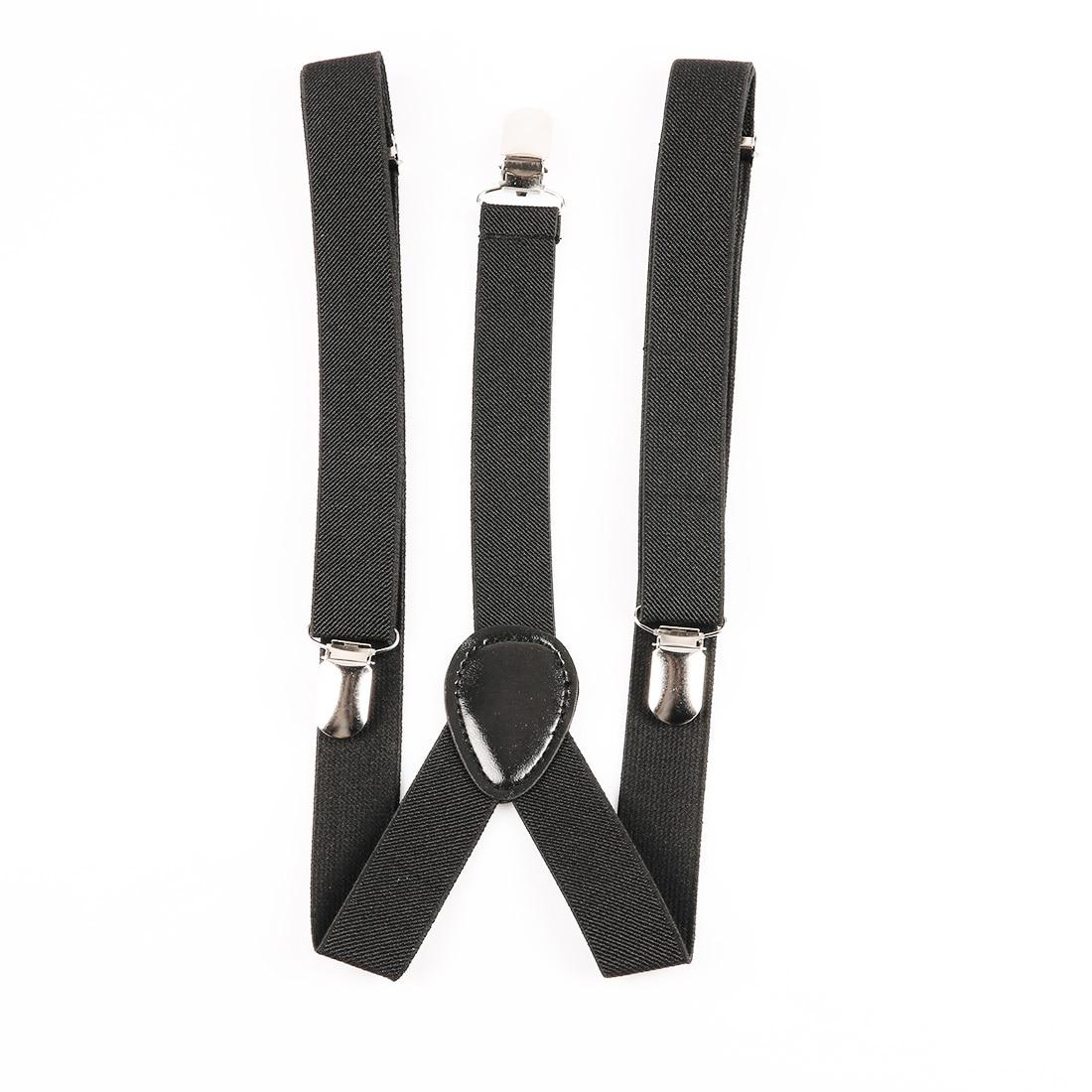 New Style Black Mens Womens Unisex Clip-on Suspenders Elastic Y-Shape Adjustable Braces Solids 25*100cm Colorful