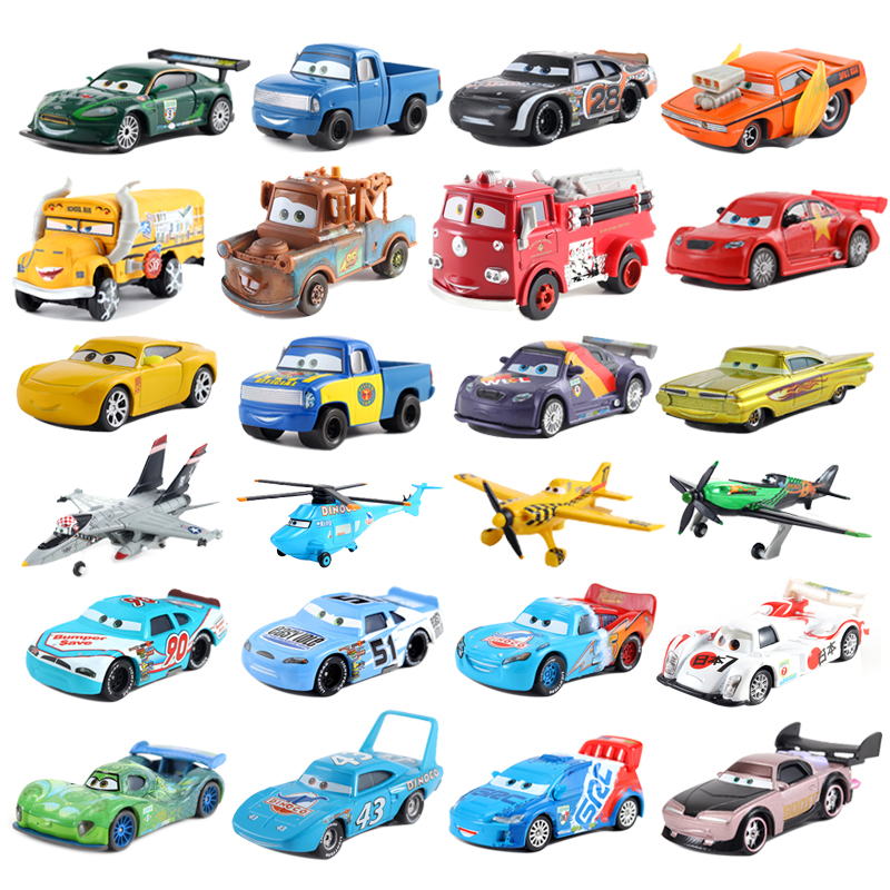 Cars Disney Pixar Cars 3 39Styles Lightning McQueen Mater Jackson Storm Ramirez 1:55 Diecast Metal Alloy Model Toy Car Gift