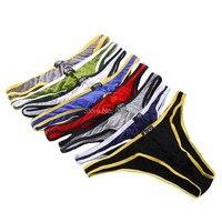 8PCS Mens Sexy Modal Underwear Briefs Men Low Rise U Convex Pouch Brief Underwear Men Stretch