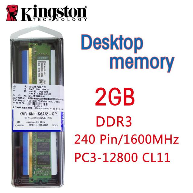 Kingston Ddr3 Desktop Memory 240 Pin 1600 MHz PC3 12800 CL11 DIMM Memoria Ram For