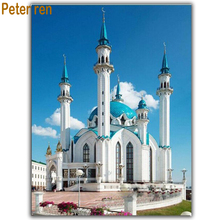 Diy Diamond painting cross stitch  Arts and Crafts 5d Full round\square diamond mosaic diamond embroidery City Kazan Mosque arts and crafts of diy diamond paint cross stitch round 5d full square diamond mosaic embroidered mosaic city ferris wheel