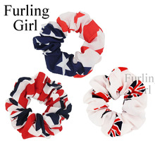 Furling Girl  1PC  USA Flag United Kingdom Flag Hair Ties Hair Scrunchies Ponytail Holder Hair Wraps New Design