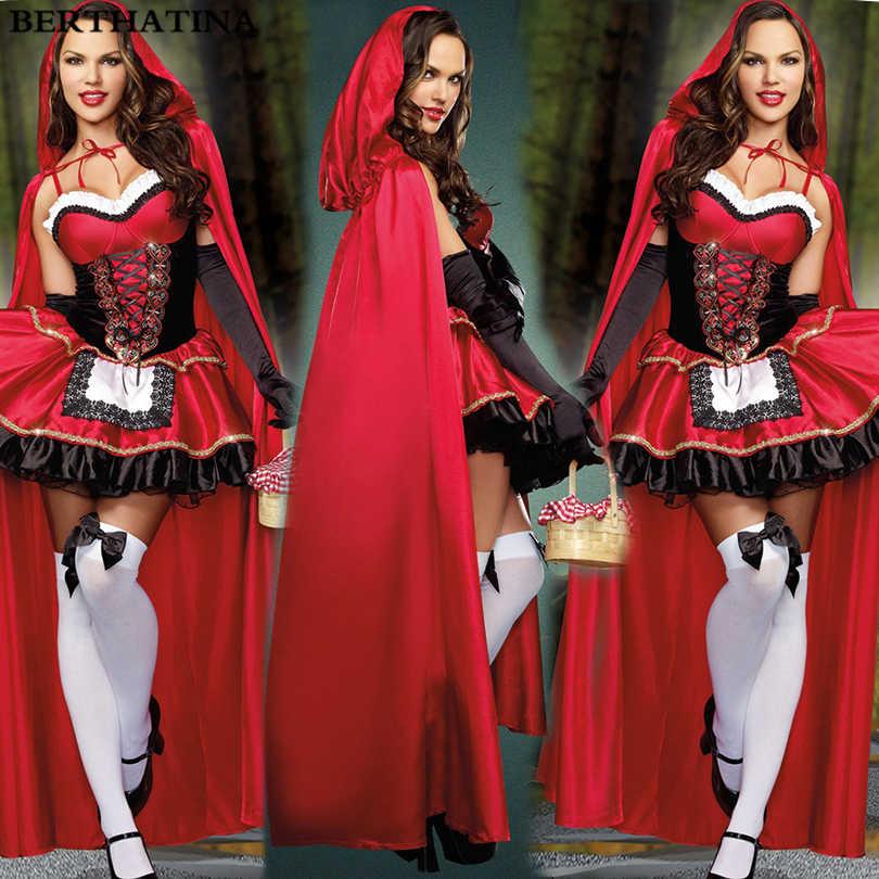 679d12b8e5c ... 2018 Красная Шапочка костюм для Для женщин фантазии взрослого Хэллоуин  Косплэй фантазия плюс Размеры 2XL платье ...