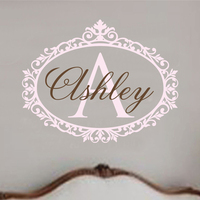 Free Mail New 2015 Cartoon Wall Decal Baby Girl Nursery Name Vinyl Shabby Chic Art Sticker