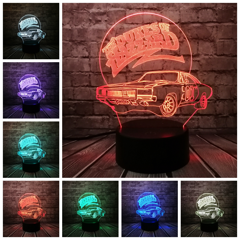 3D Lamp CAR USB Night Light Multicolor Lava LED RGB Lighting Luminaria Table Kids Christmas Gifts Home Deacorative