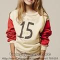 New Bobo Choses The Letter Sweatshirt T-shirt 2016 Autumn Winter Kids Long Sleeve Nununu Boys Girls Baby Tees Tops