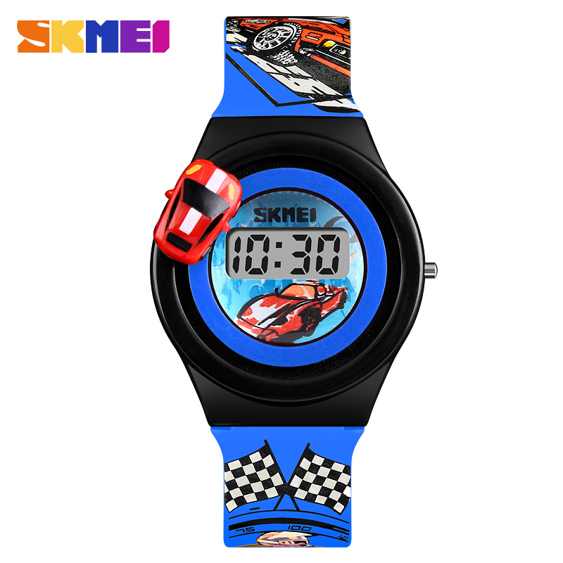 SKMEI Children's Watches Fashion Digital Electronic Kid's Watch Creative Cartoon Car Student Wristwatches Boy Girl Clock моноподы экспедиция штатив для селфи зеленый