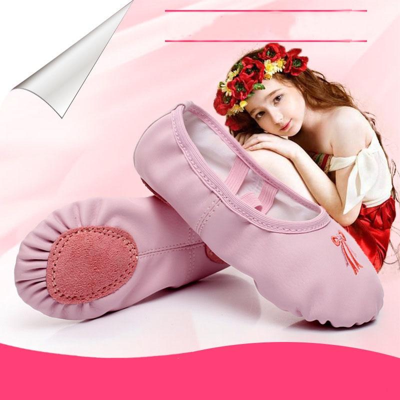 Free shipping Children 39 s Dance Shoes Women PU ballet Training dance Shoes Adult Cat 39 s Claw Shoes Girls 39 Yoga Dance Shoes JQ 299