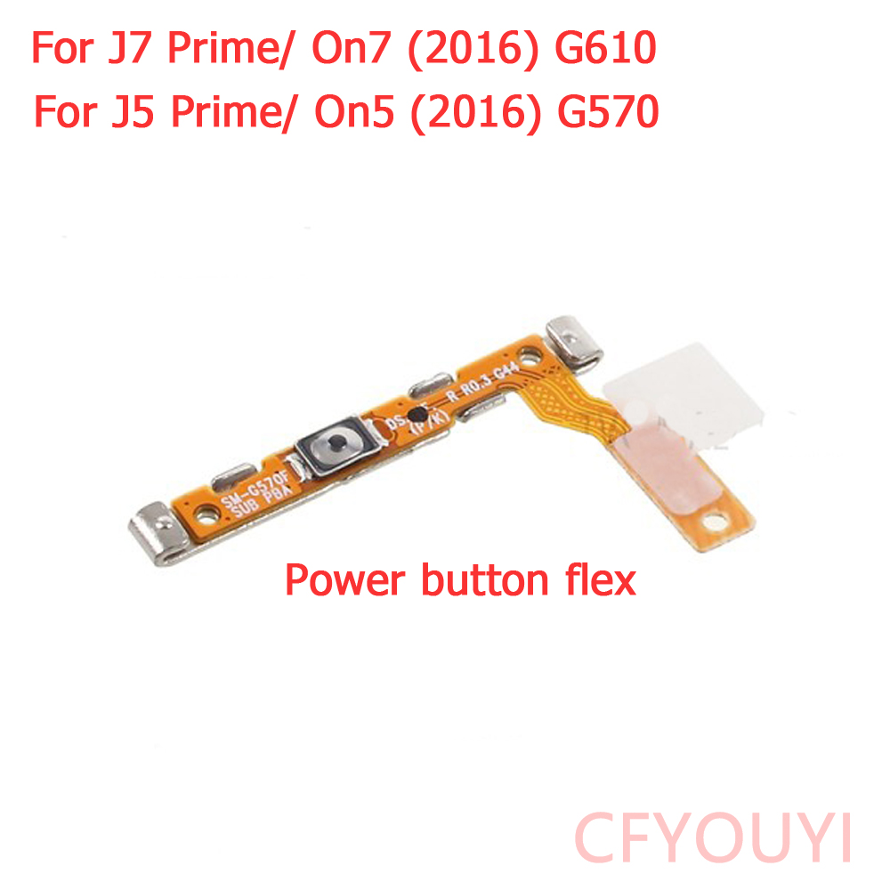 CFYOUYI Power On/Off Switch Button Flex Cable For Samsung Galaxy J7 Prime/ On7 (2016)/ J5 Prime/ On5 (2016) G570 G610