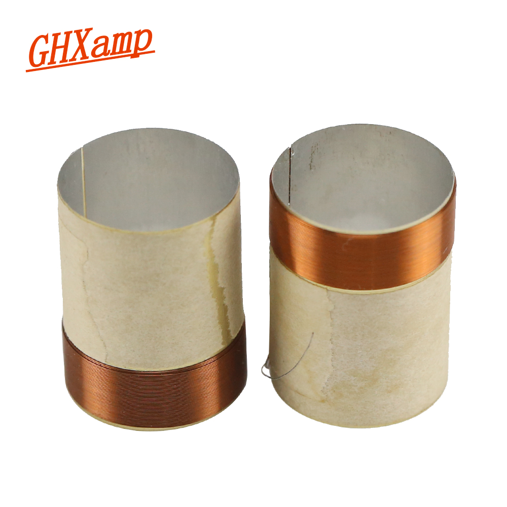 GHXAMP 20Core BASS Voice coil 20.4mm KSV 8OHM Round copper wire For 4 inch 5 inch Woofer SUB Speaker repairs DIY 1Pairs