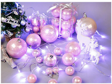 3-10 cm Pink Rose Gold Pearl Christmas Ball for Christmas Decoration and Christmas Tree Ornaments