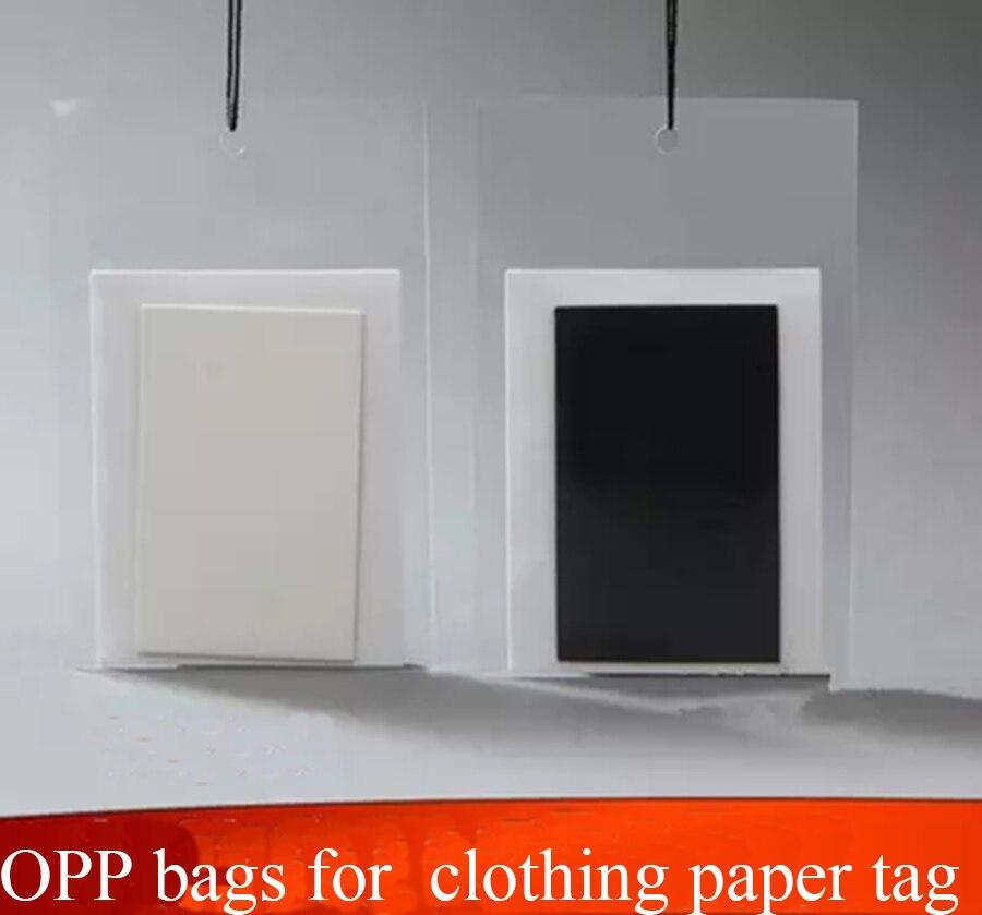Размер 8*12 см 100 шт. прозрачный ПВХ сумка для одежды бумажная бирка, пустой platic держатель для одежды карты