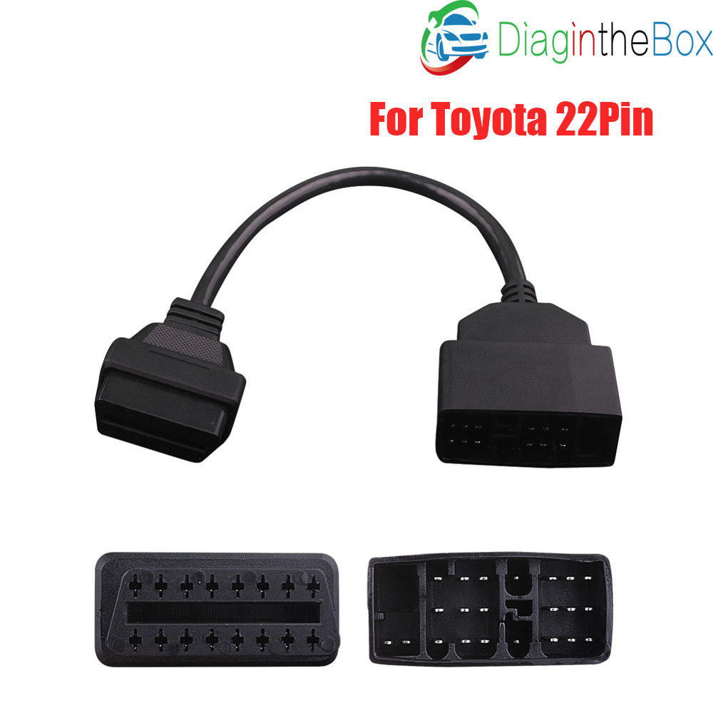 OBD2 22 Pin To 16 Pin Car Diagnostic Connector For <font><b>Toyota</b></font> <font><b>22PIN</b></font> OBDII Cable Adapter Transfer For <font><b>Toyota</b></font> <font><b>22Pin</b></font> To OBD 2 16Pin image