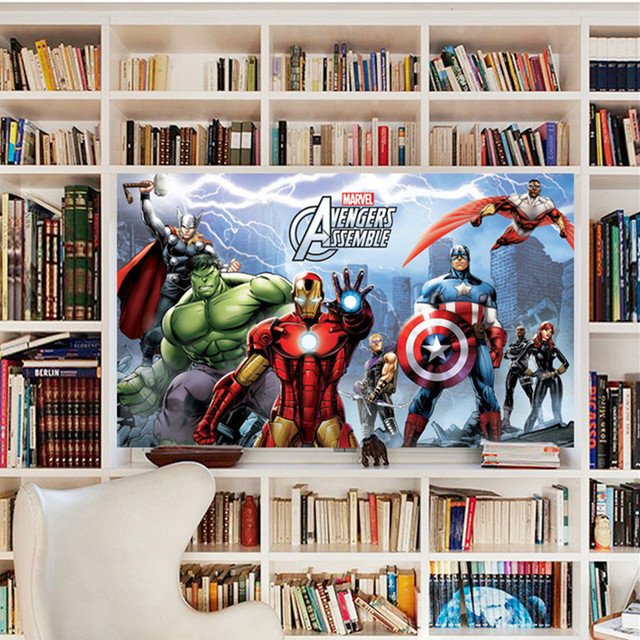 Latest 14 Different Fashion Cartoon Ant Man Iron Marvel Avengers Assemble  Super Heros3D Wall Stickers Home