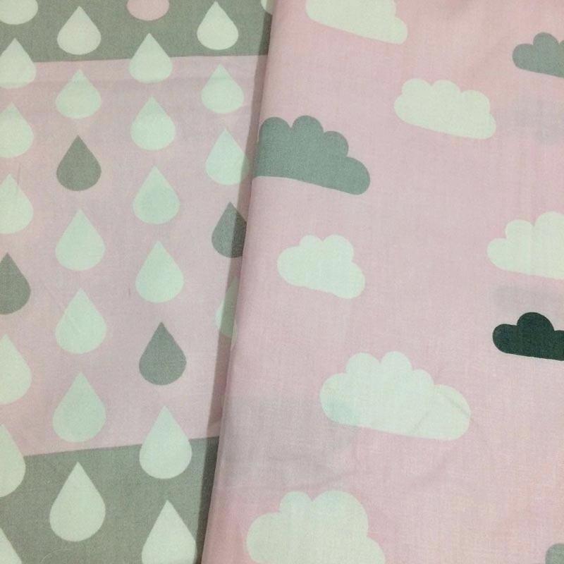 100% कपास टवील गुलाबी बादल और - कला, शिल्प और सिलाई