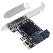 BTBcoin Eklemek Kartları PCI E/PCIE SATA 3 PCI Express SATA Denetleyici PCIE SATA 3.0 Kart hub adaptörü 88SE9215 çip SSD ve HDD