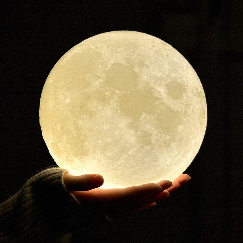 Rechargeable custom moon lamp 3d usb 2 C