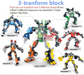 3 Type Robot Transformation Building Block Set 3D Construction Brick Toys Child Puzzle Intelligent Educational Assemly Block Toy