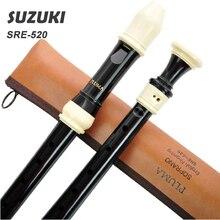 SUZUKI SRE-520 Clarinet Recorder British 8 Holes Soprano Recorder Music instrument Baroque Professional