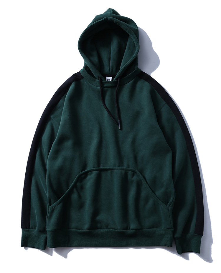 Aolamegs Hoodies Men Side Striped Hood High Street Pullover Cotton Fashion Hip Hop Streetwear Casual Big Pocket Hoodie Autumn (34)