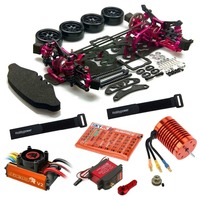 Alloy Carbon Drift Chassis Kit Brusless Leopard 60A ESC 4730KV Motor DS3218MG Servo for 1/10 SAKURA D4 AWD RWD