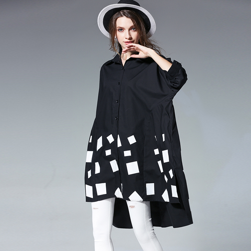 Shirt Women 2018 Spring & Summer Sway A Type Top Wome Plus Size Medium Long Loose Large Size Womens Clothes And Shirts Female