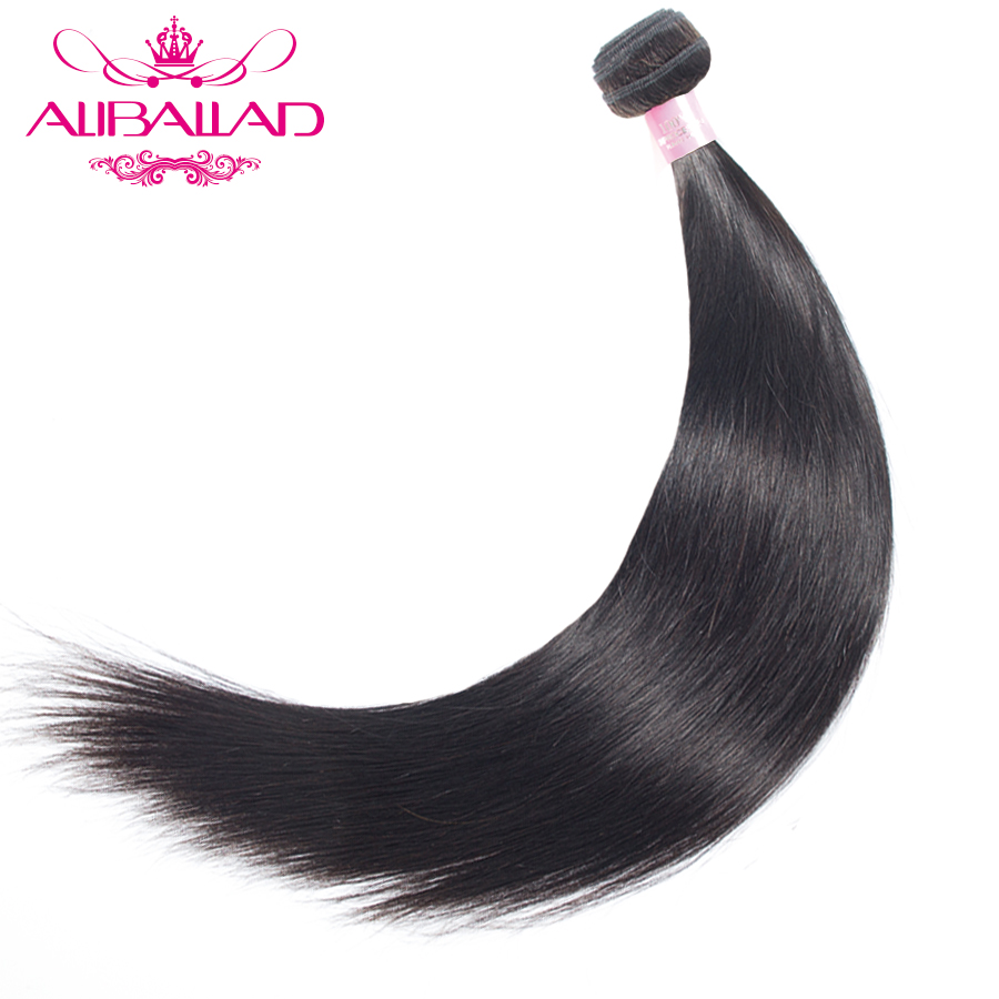 Aliballad Brazilian Straight Hair Natural Color Weave Bundles 8 To 28 Inch Non Remy Hair Extensions 100% Human Hair Bundles