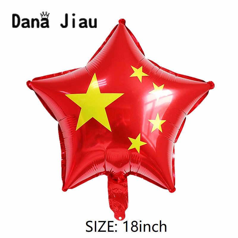 """סין לאומי דגל אדום לב בלון ארה""""ב עצמאות יום קישוט כלי משחקים אולימפיים המדינה גלוב יום הולדת כדור"""