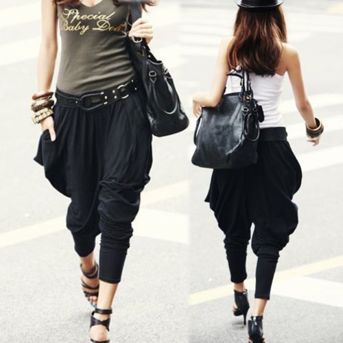 Casual Trousers Dance-Pants Slacks Long-Legging Harem Baggy Women Hip-Hop
