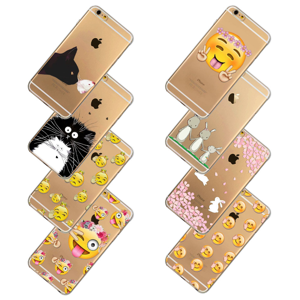 Special Black Cats Painted  1PC Free Shipping Soft Phone Cover For iphone 4 4s 5 5s 6 6s 6plus 6splus Transparent Case In Stock