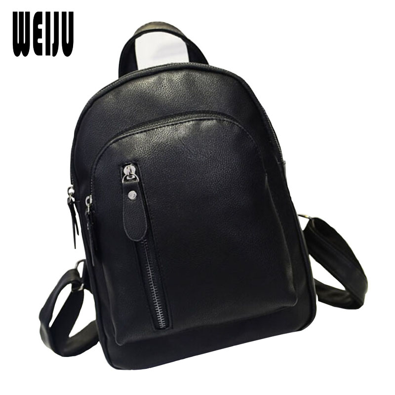 WEIJU New 2017 Casual Women Backpack Fashion Travel Candy Pu Backpack Preppy Style Women Bag Size 28*22*8.5cm OS-AY-027 2017 new women fashion backpack casual