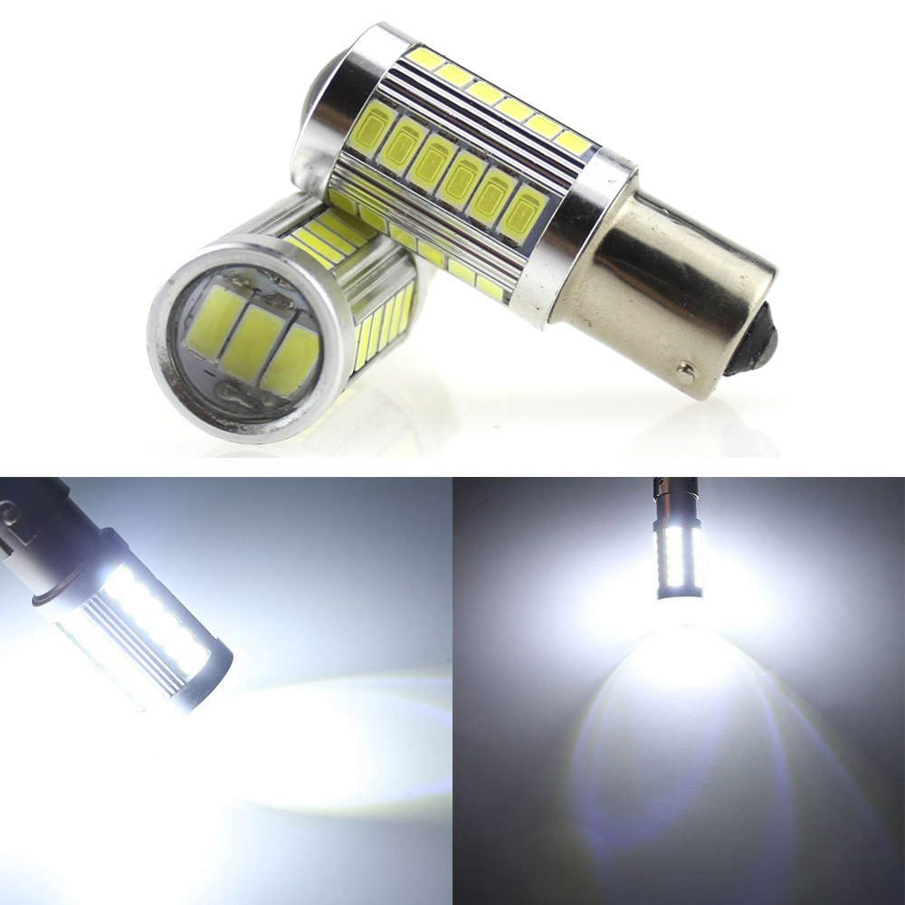 HOT!! 2X White Red BAY15D 1157 1142 Car Tail Stop Brake Light 5730 33 SMD LED Bulb 12V DC car-styling led 12v car lamp
