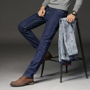 Image 3 - 2019ใหม่ผู้ชายกิจกรรมThicken Warmกางเกงยีนส์ฤดูใบไม้ร่วงกางเกงยีนส์ฤดูหนาวWarm Flocking Warm Soft Menกางเกงยีนส์Fitสำหรับ 15